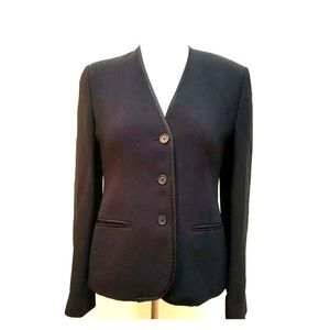 Emporio Armani career blazer navy blue